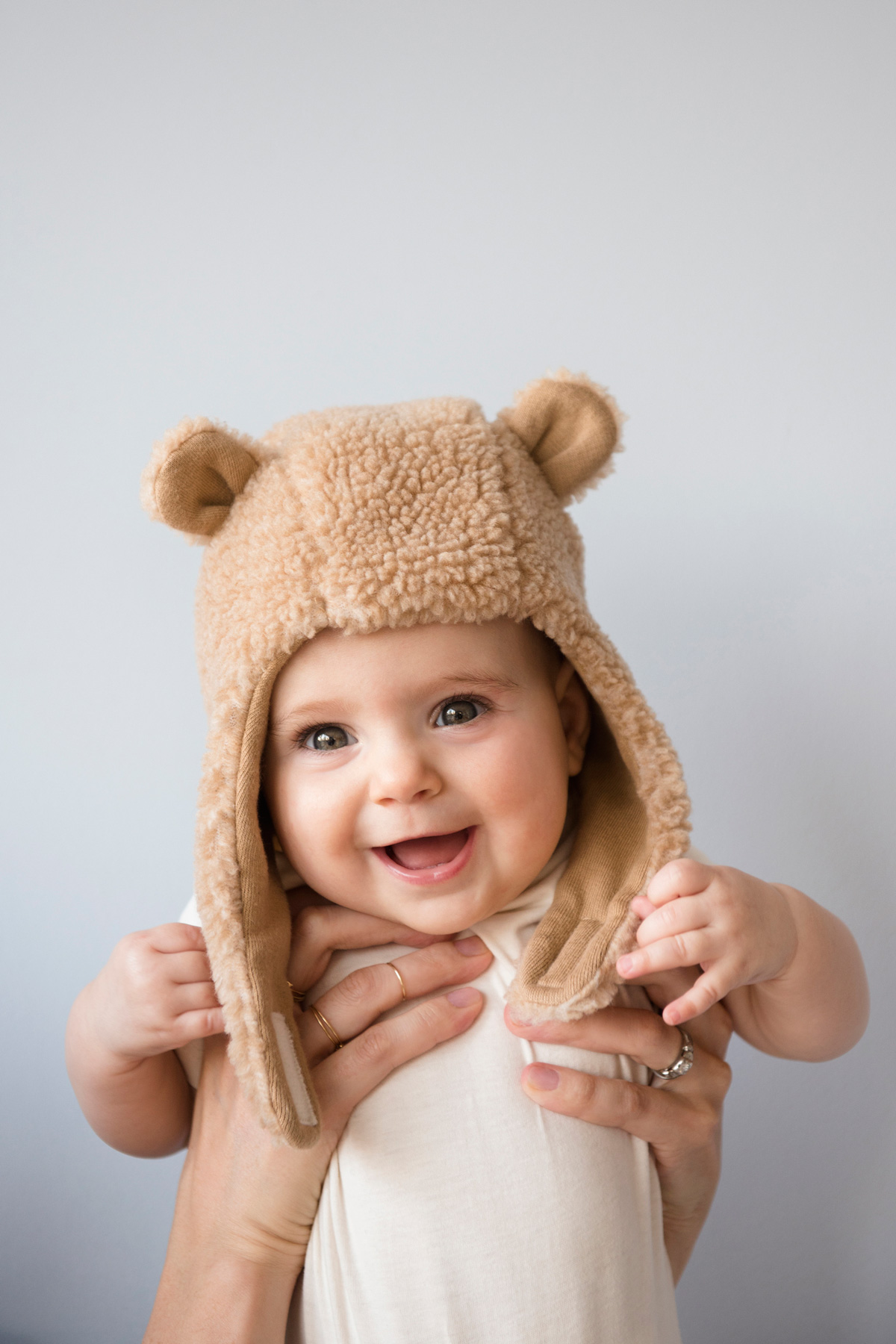 Trendy baby with hat on