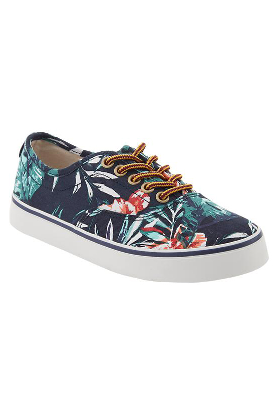 Old Navy Boys Tropical Print Sneakers