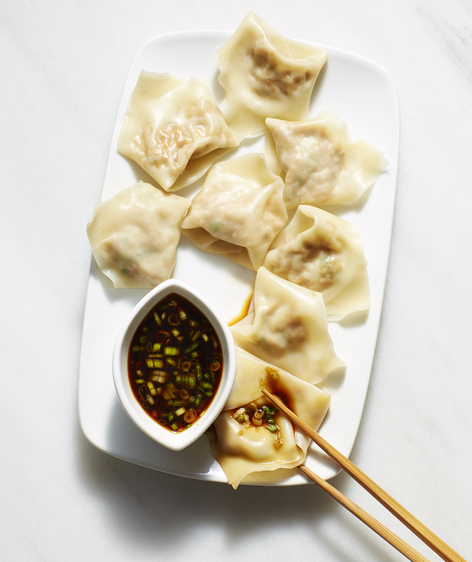 Turkey and Scallion Dumplings