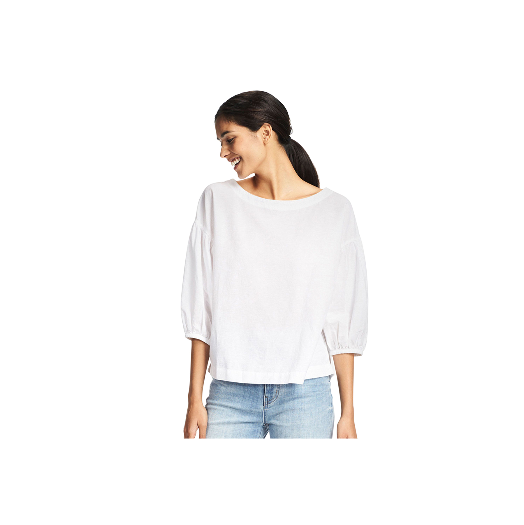 cotton-linen-sleeve-t-blouse