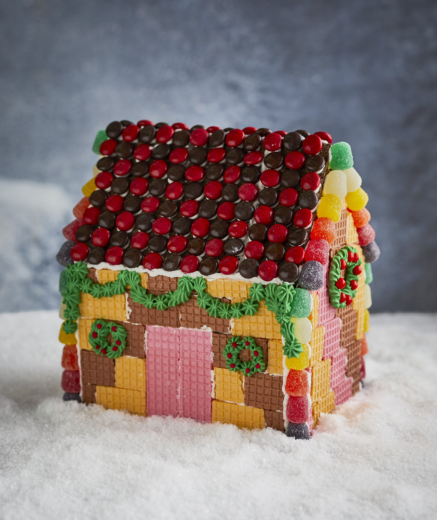 Wafer Cookie Gingerbread House