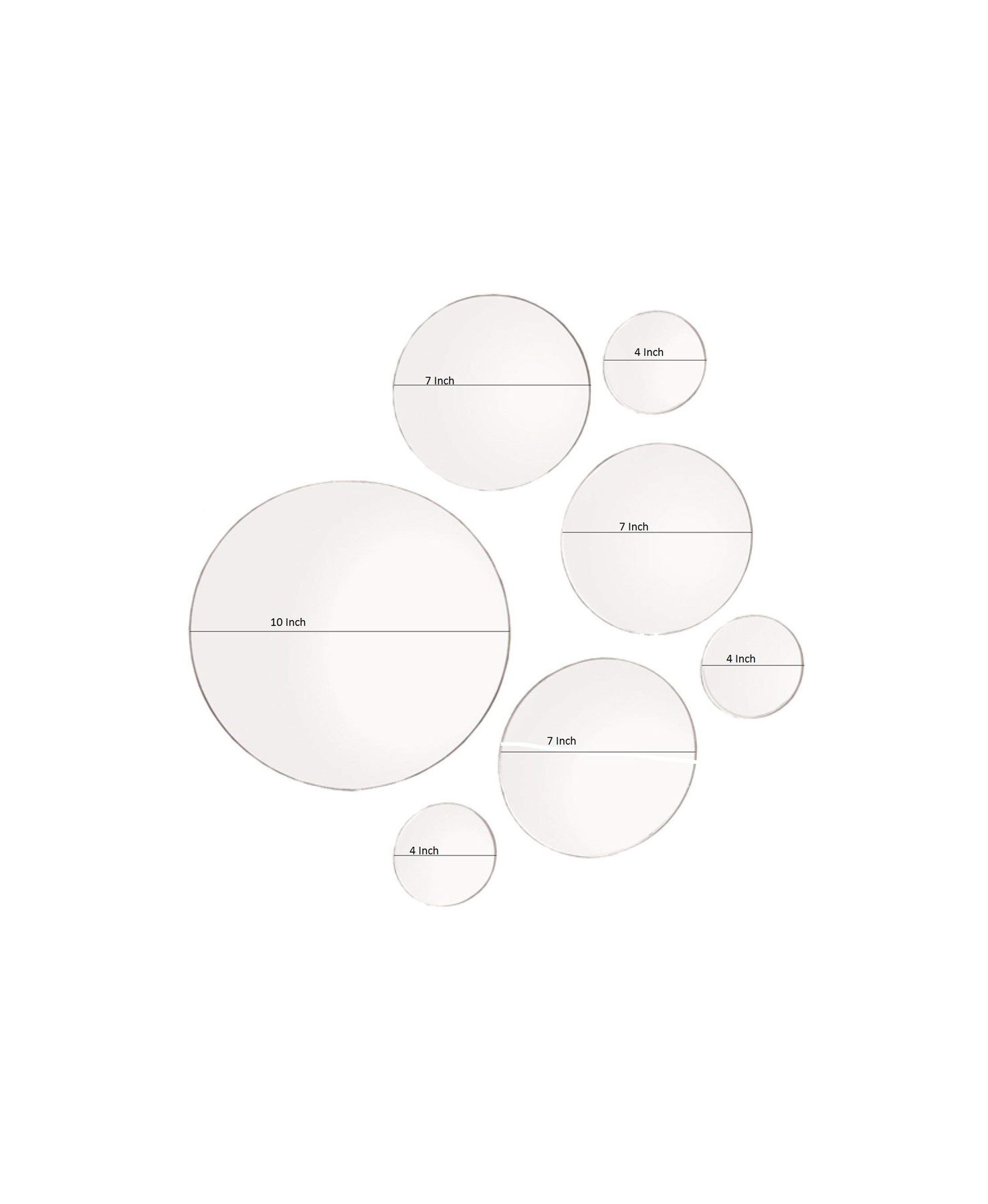 Light in the Dark Round Wall Mirror in Assorted Sizes