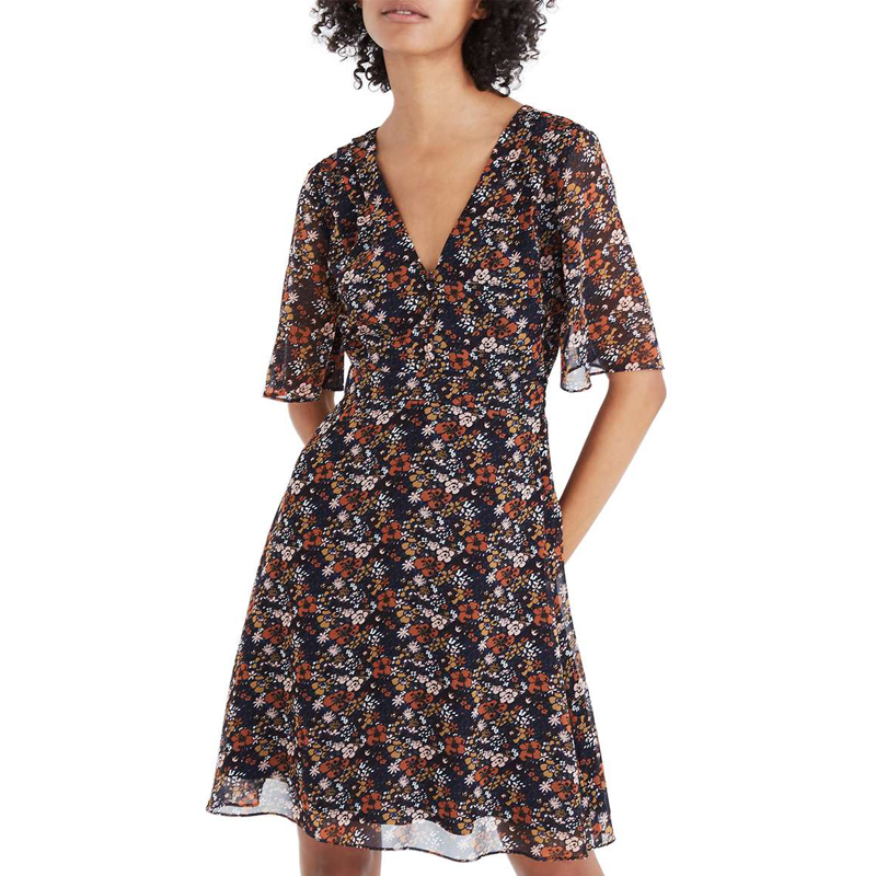 Madewell Orchard Flutter Sleeve Dress