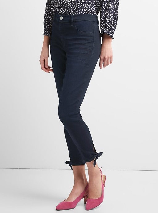 Washwell Mid Rise Favorite Jeggings with Tie-Hem