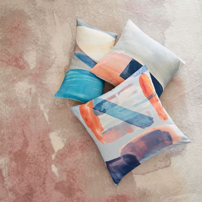 West Elm Watercolor Pillow