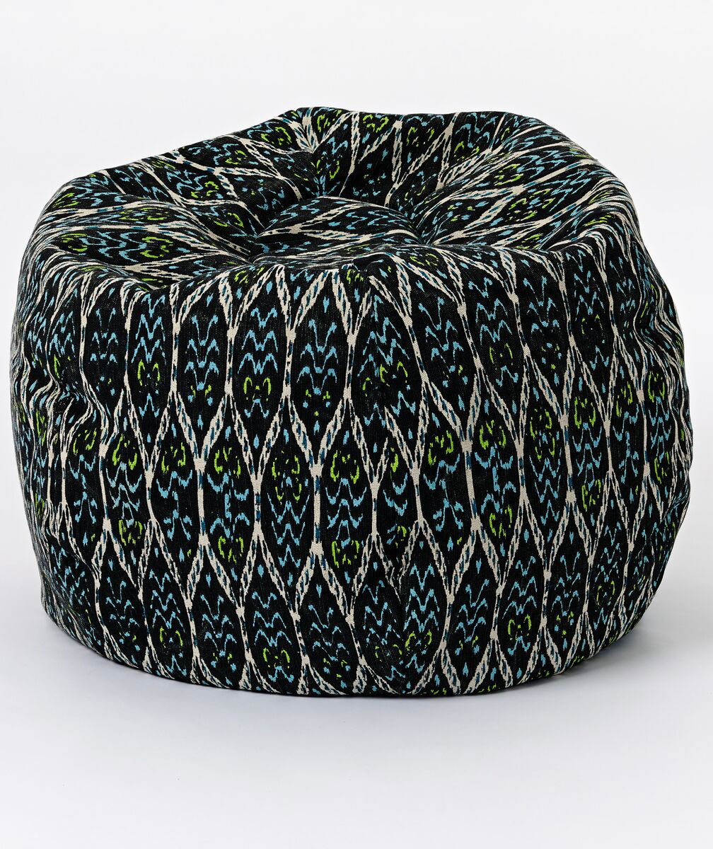 Outdoor Ikat Ogee Bean Bag