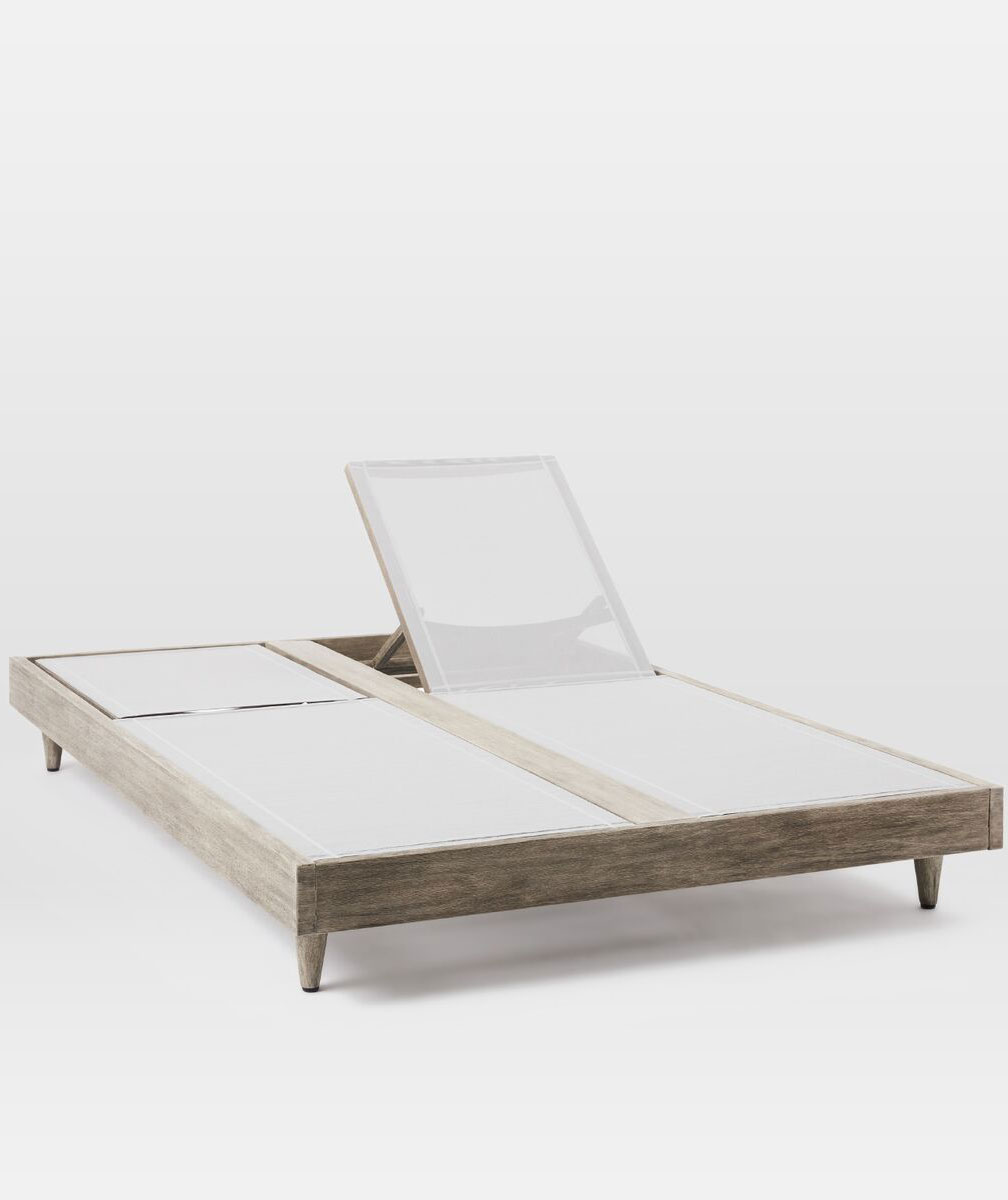 Portside Textilene Chaise Double Lounger