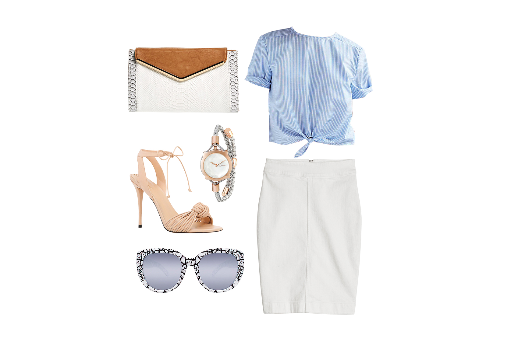 white-denim-skirt