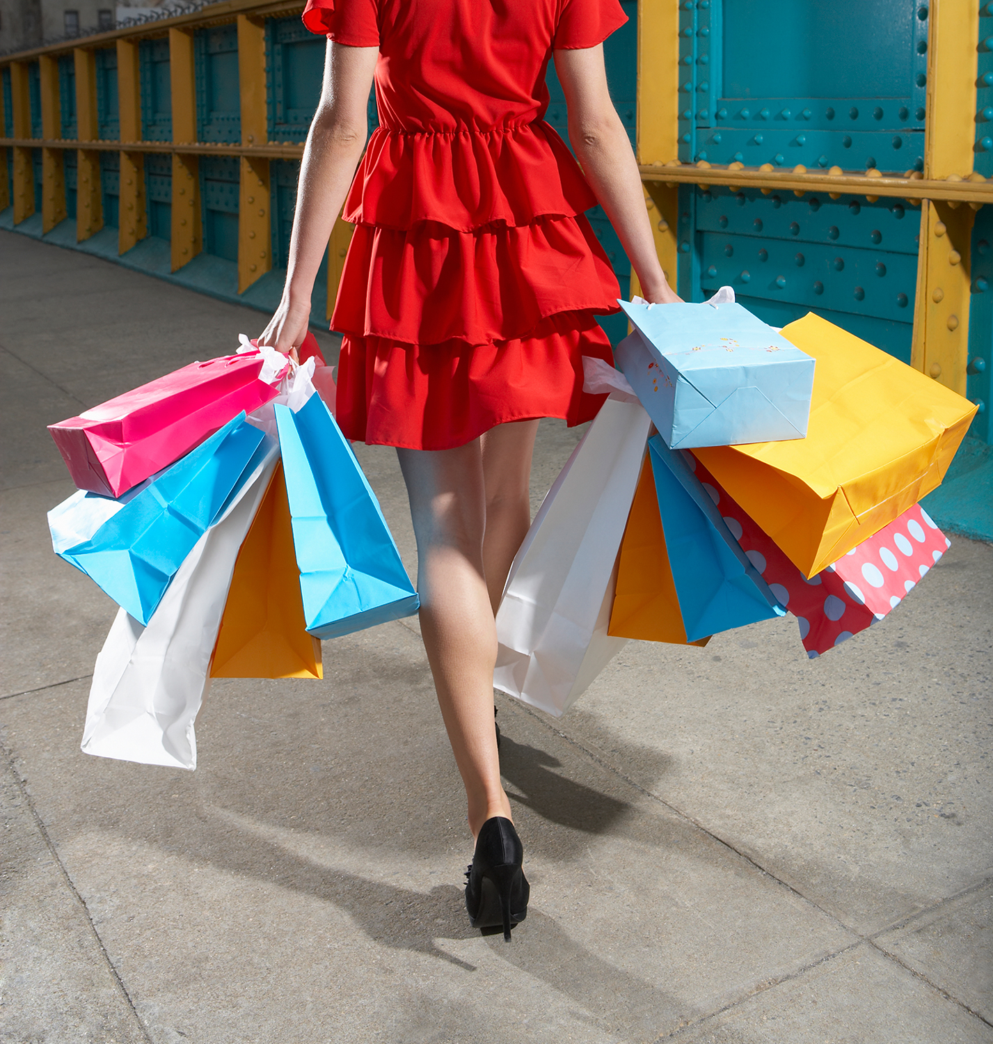 Woman Obsessively Shopping