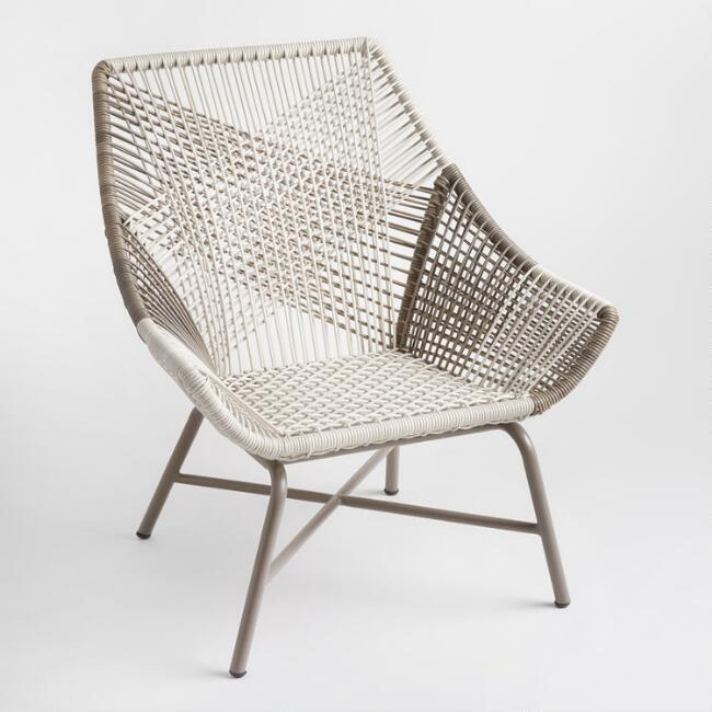 Gray Woven Wicker Andalusia Outdoor Chair