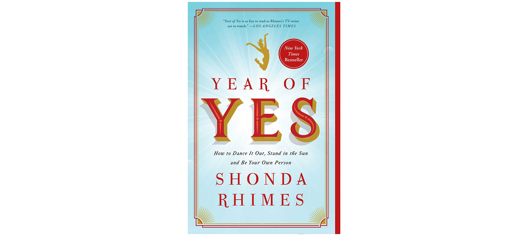 Good Books to Read to Feel Happy: The Year of Yes, by Shonda Rhimes (Good Mood Books)