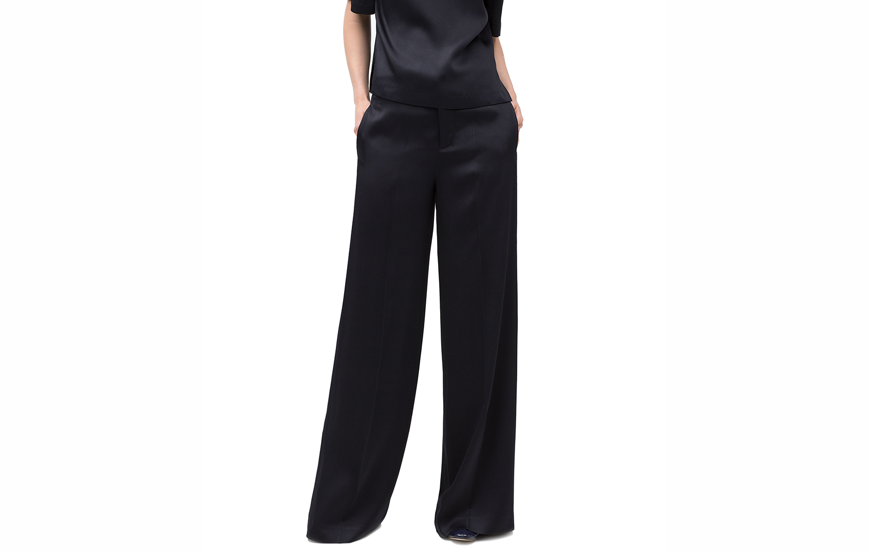 Wide-Leg Studio Trousers