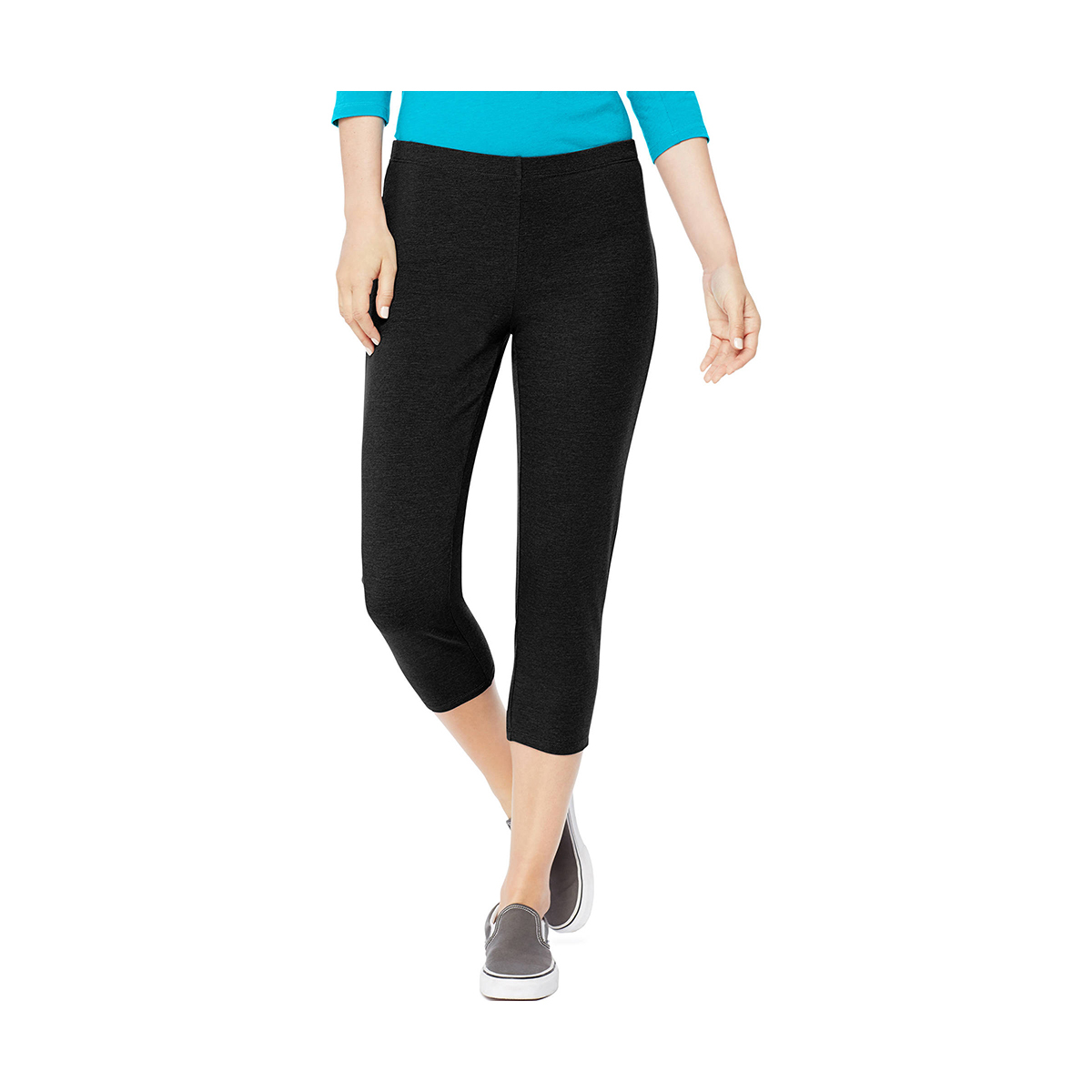 4594bad075a Best Cropped Option  Hanes Women s Stretch Jersey Capri