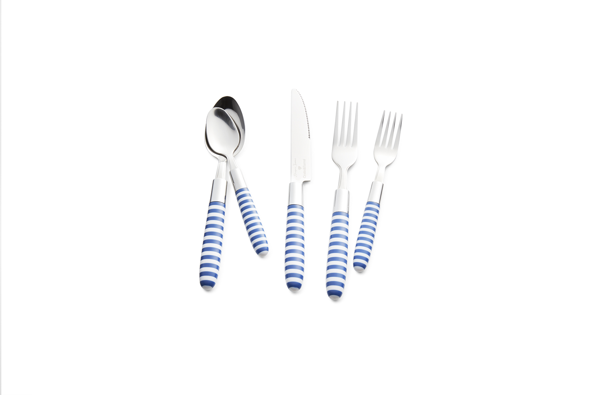 Blue and White Striped Flatware