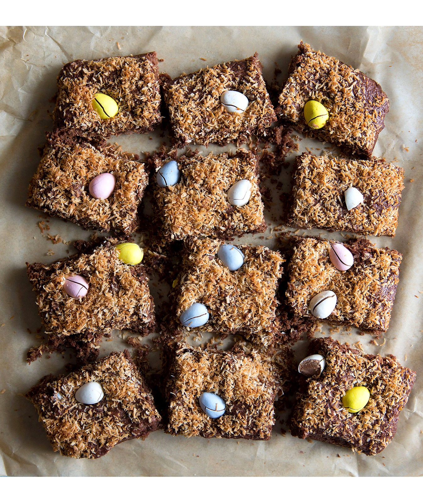 Toasted Coconut Cadbury Egg Brownies