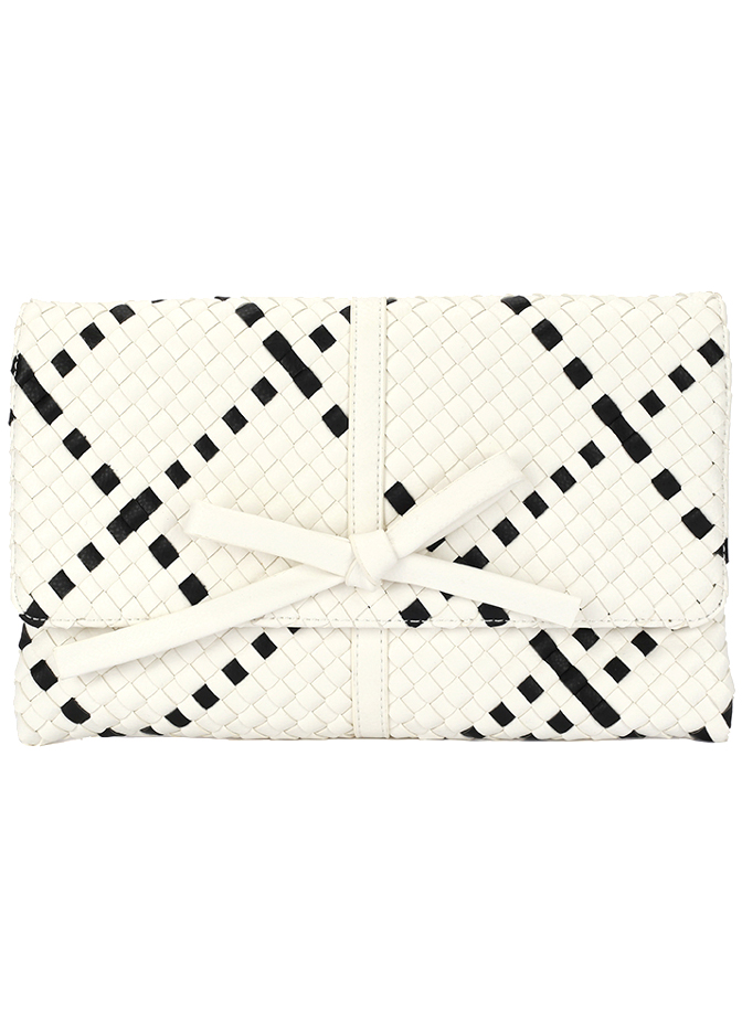 Deux Lux Black and White Clutch
