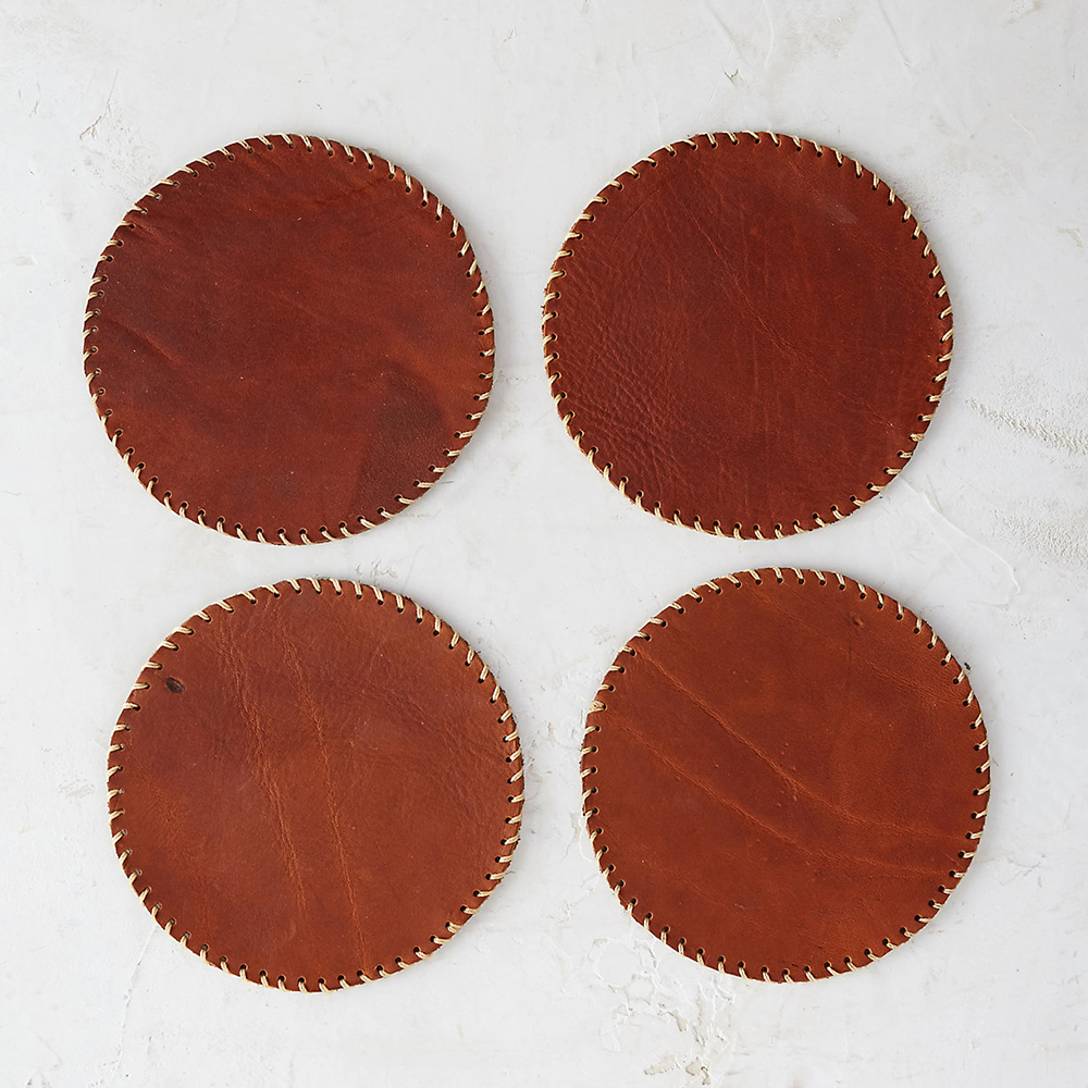 Stitched Leather Coasters