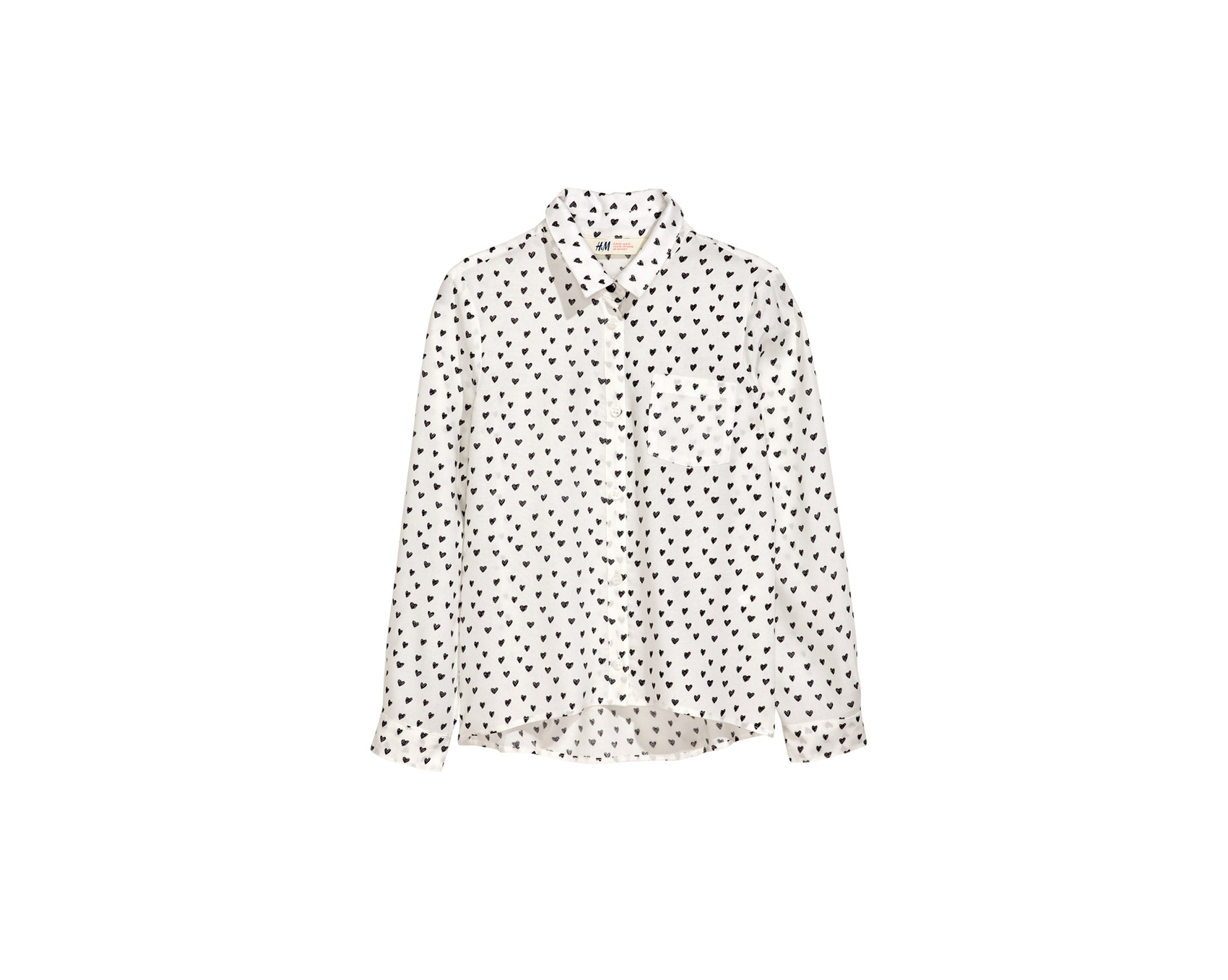 H&M Girls' patterned shirt