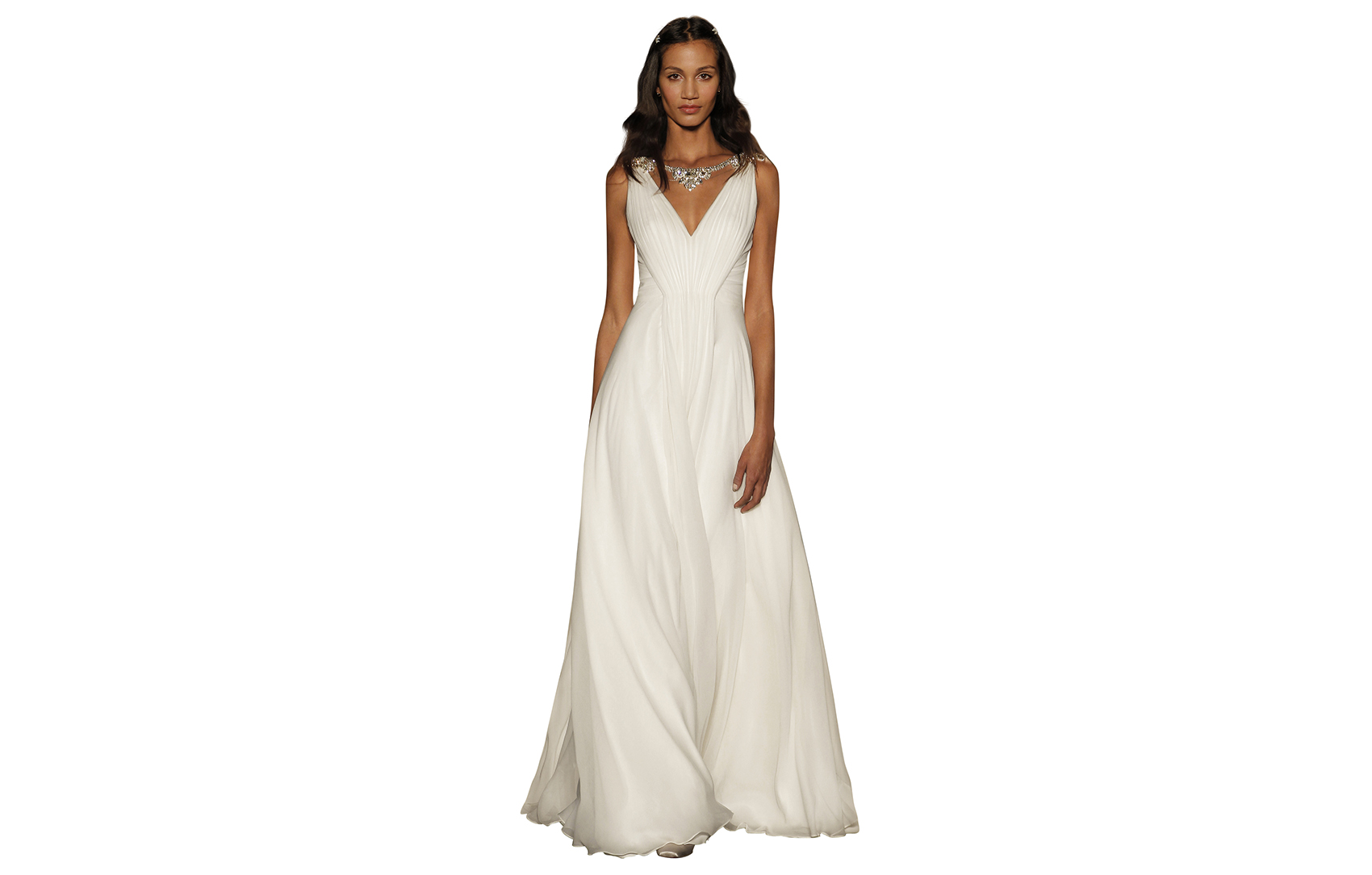 Jenny Packham bridal gown empire waist