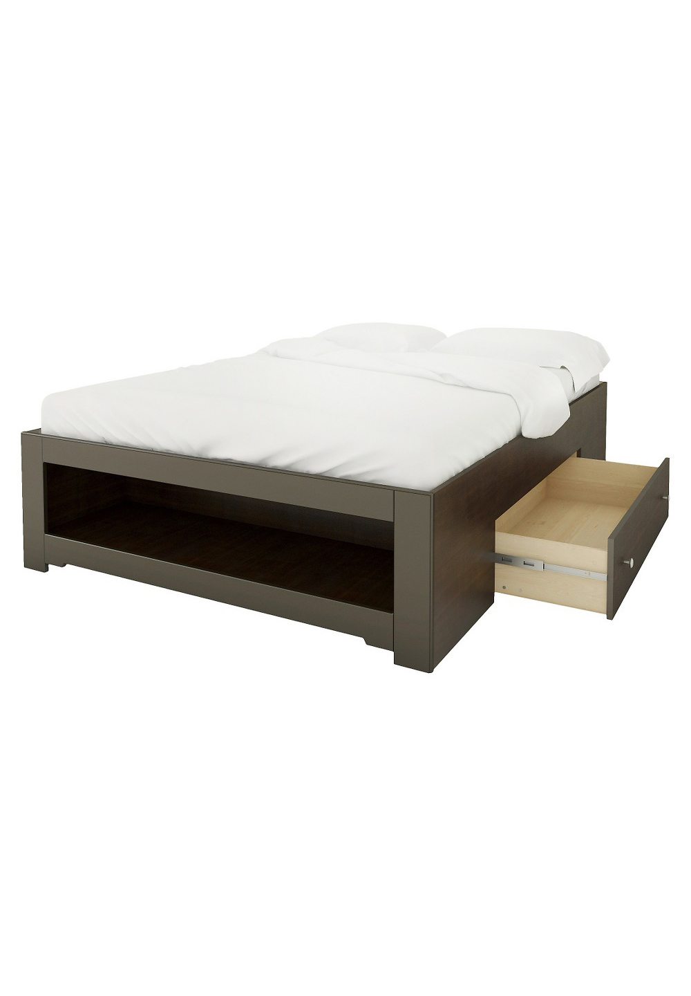 Nexera Dixon Full Size Reversible Storage Bed in Espresso