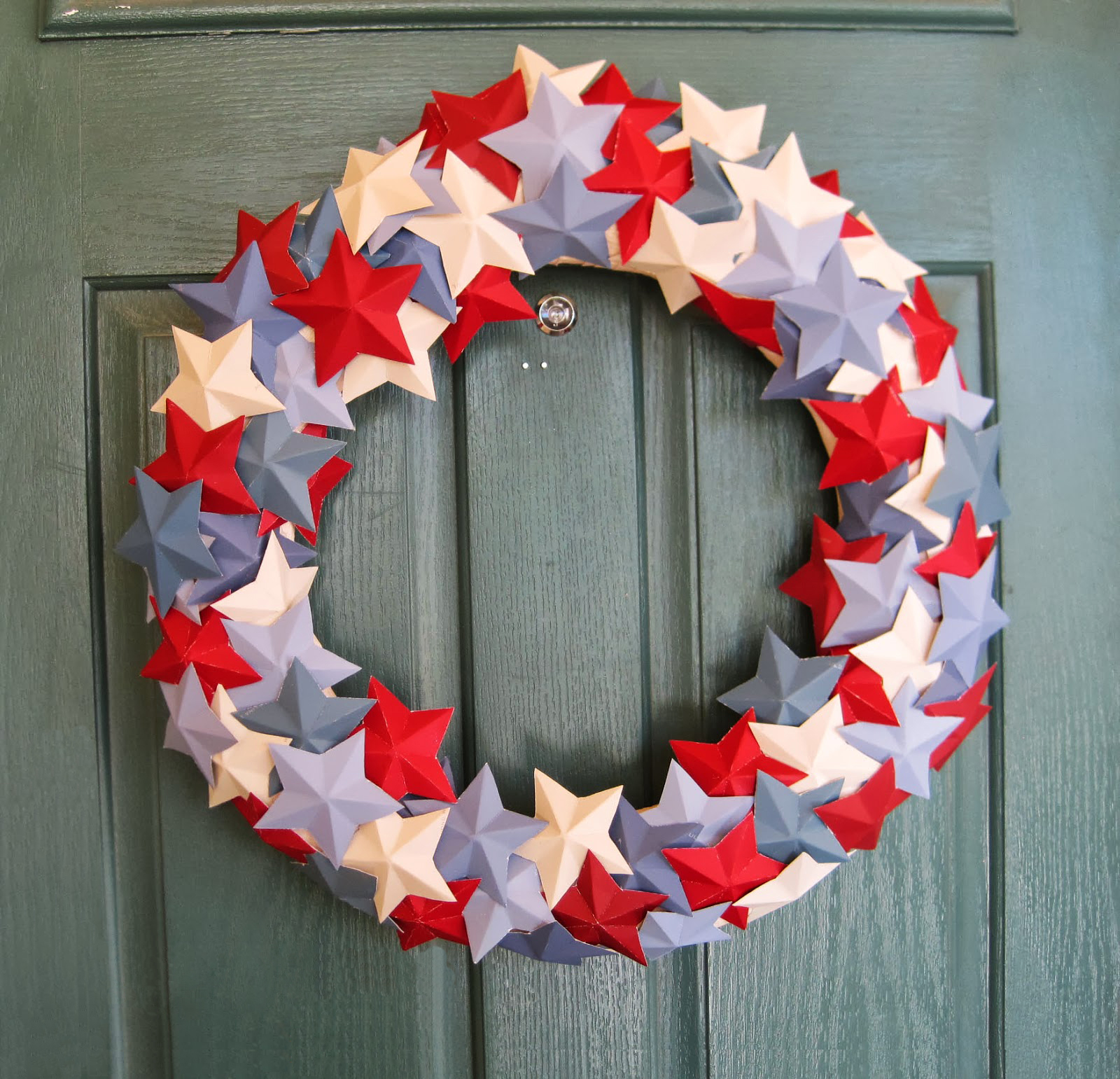 Patriotic Paint Chip Wreath
