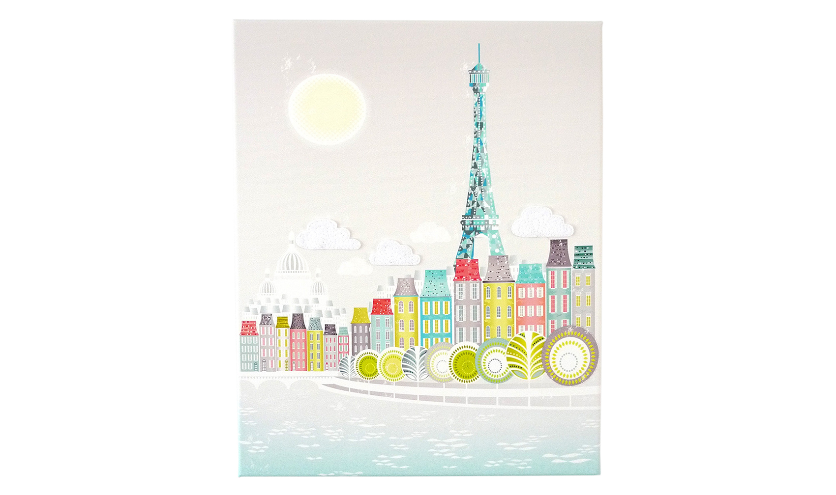 Paris Skyline Canvas