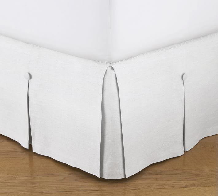 Pleated Button Bed Skirt