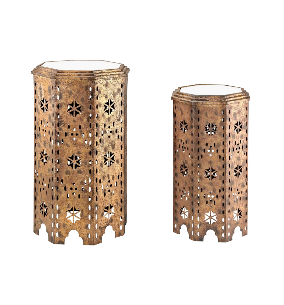 Salma punched-metal side tables
