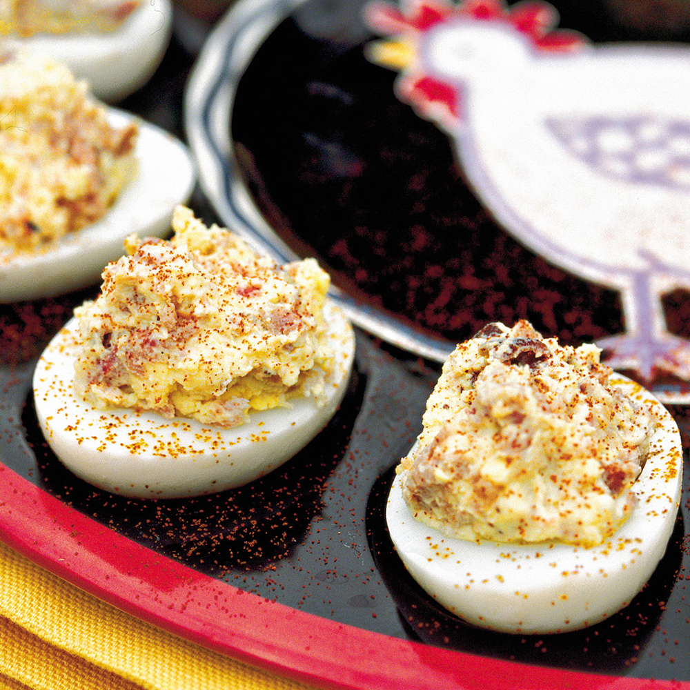 Barbecue Deviled Eggs