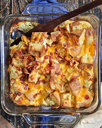 Nook and Cranny-Breakfast Sandwich Bread Pudding