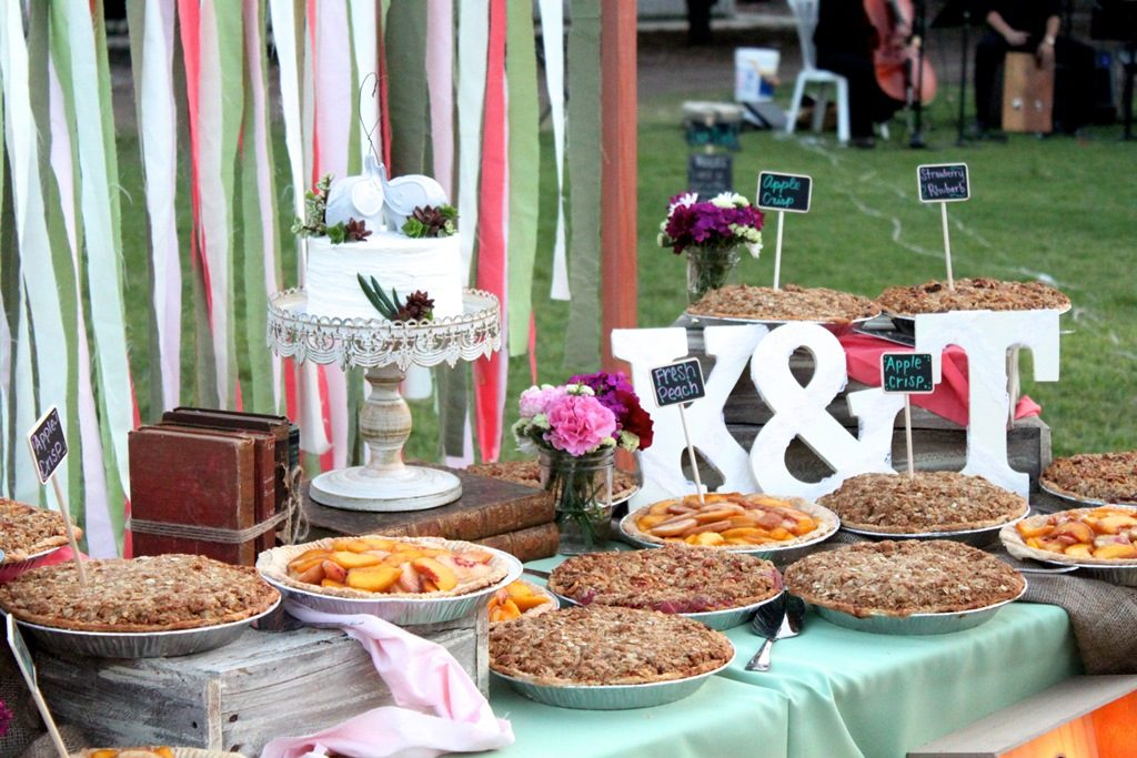 Pie Wedding Display