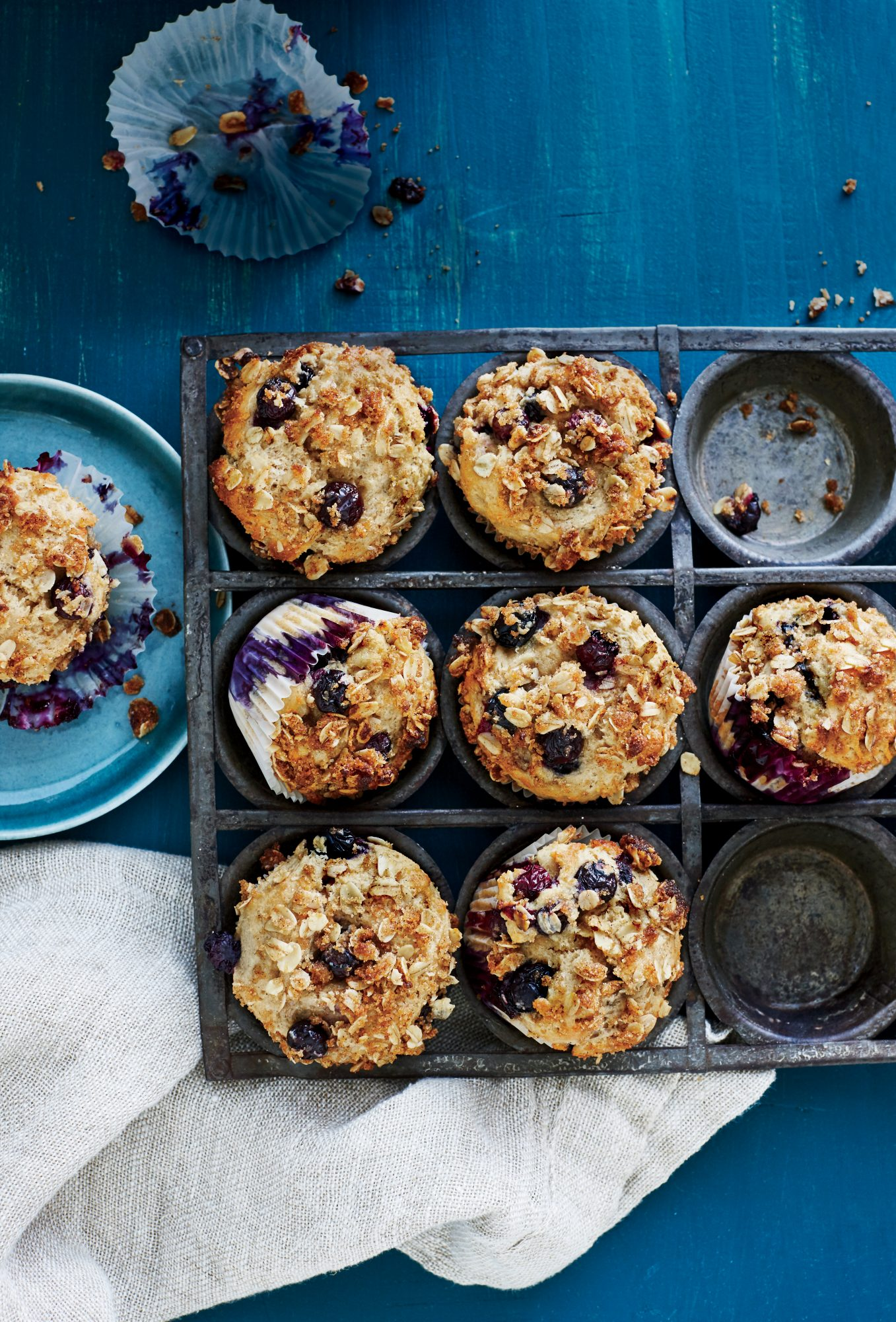 Blueberry Sour Cream Muffins