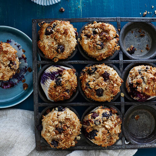 Blueberry-Sour Cream Muffins