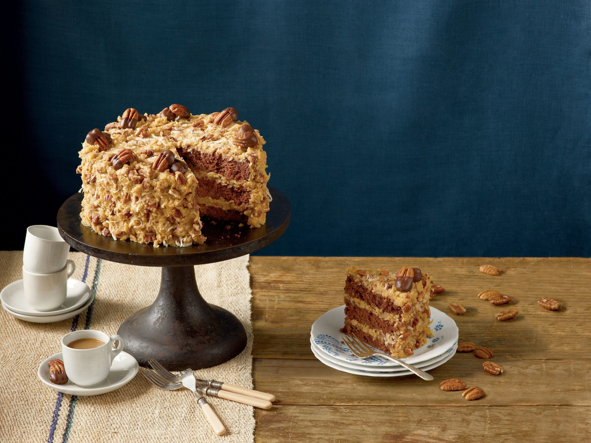 German Chocolate Cake With Frosting Inside