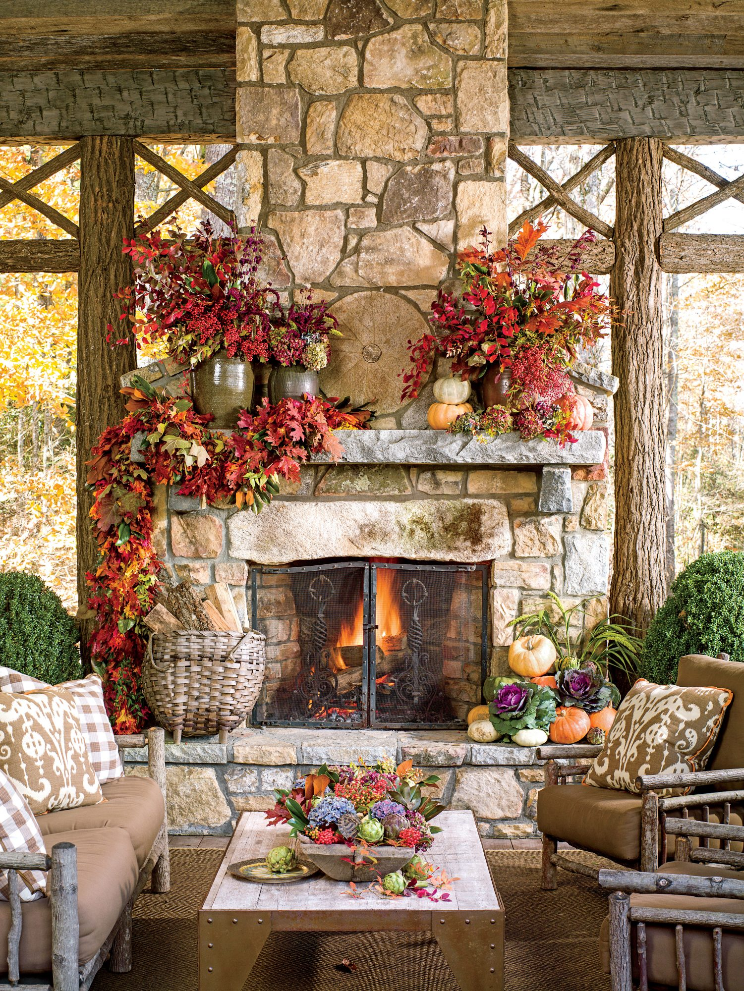 Timeless Outdoor Mantel