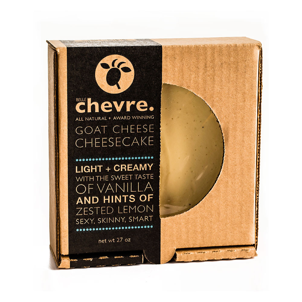 Belle Chevre Goat Cheese Cheesecake
