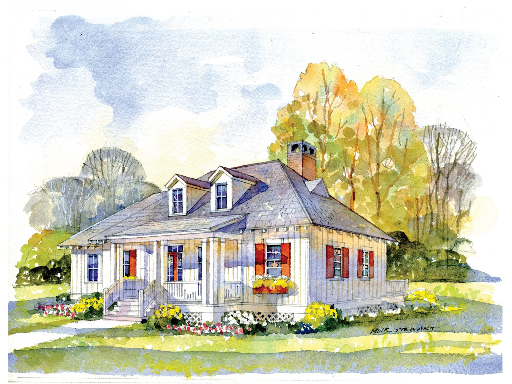 Why we love southern living house plan 1906 southern living for Classic southern house plans