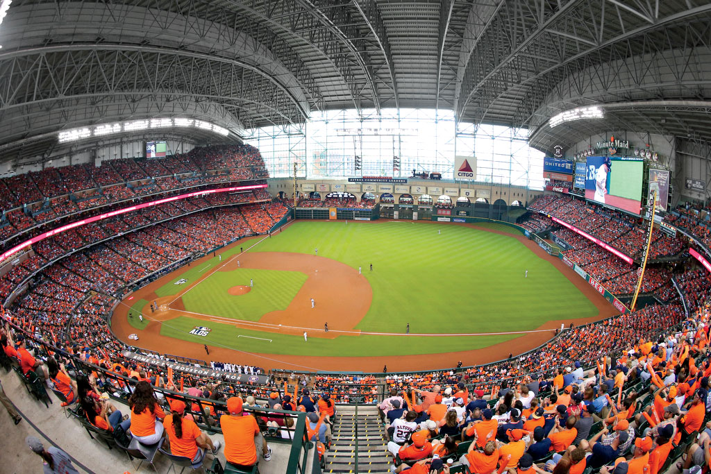 Southern ballparks every baseball fan must see southern living minute maid park in houston tx malvernweather Gallery