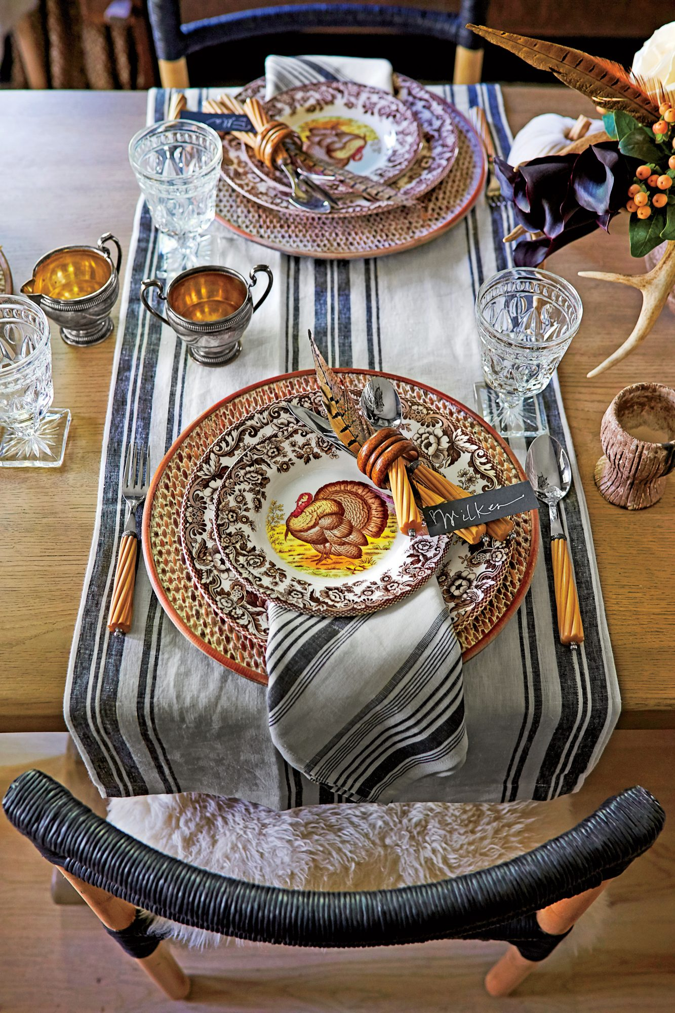 Casual Turkey Plate Place Setting
