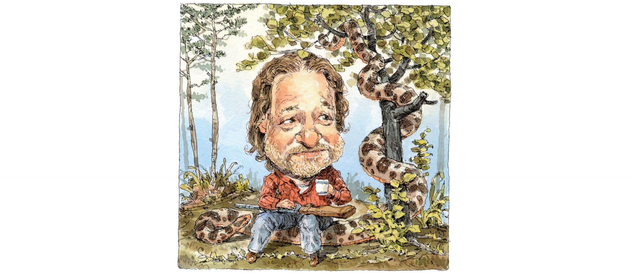 Rick Bragg with Snake