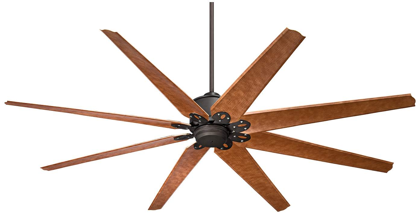 8 Blade English Bronze Outdoor Ceiling Fan