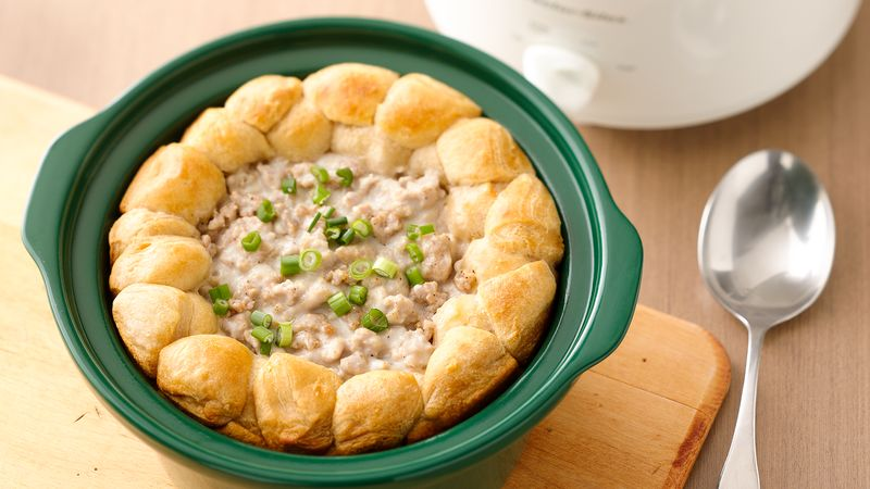 RX_1708_Slow-Cooker Back-To-School Breakfast Ideas_Biscuits & Sausage Gravy