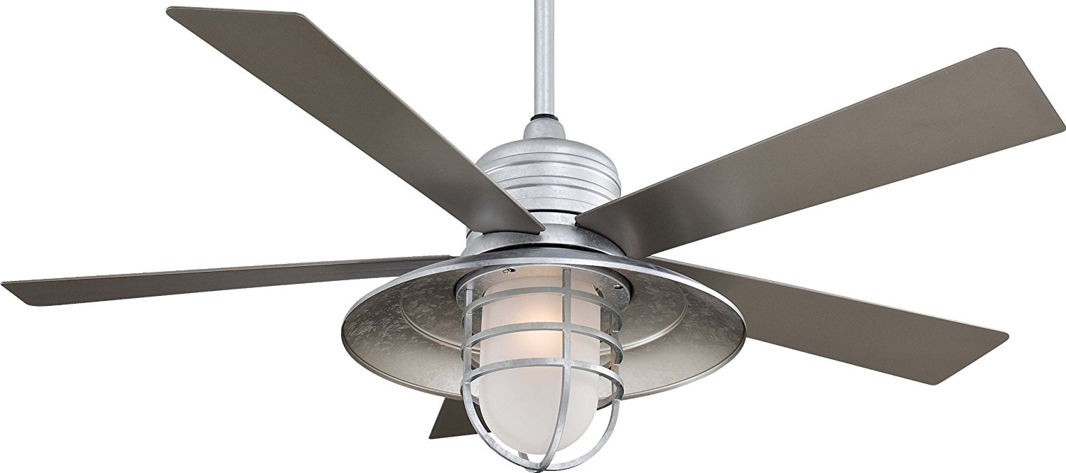 Rustic Galvanized Ceiling Fan