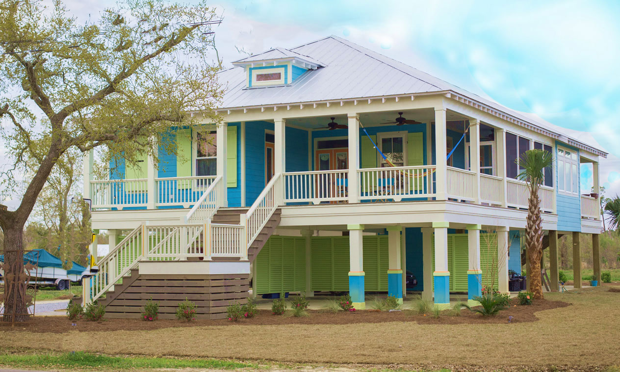 Blue and Green House in Westland Mississippi