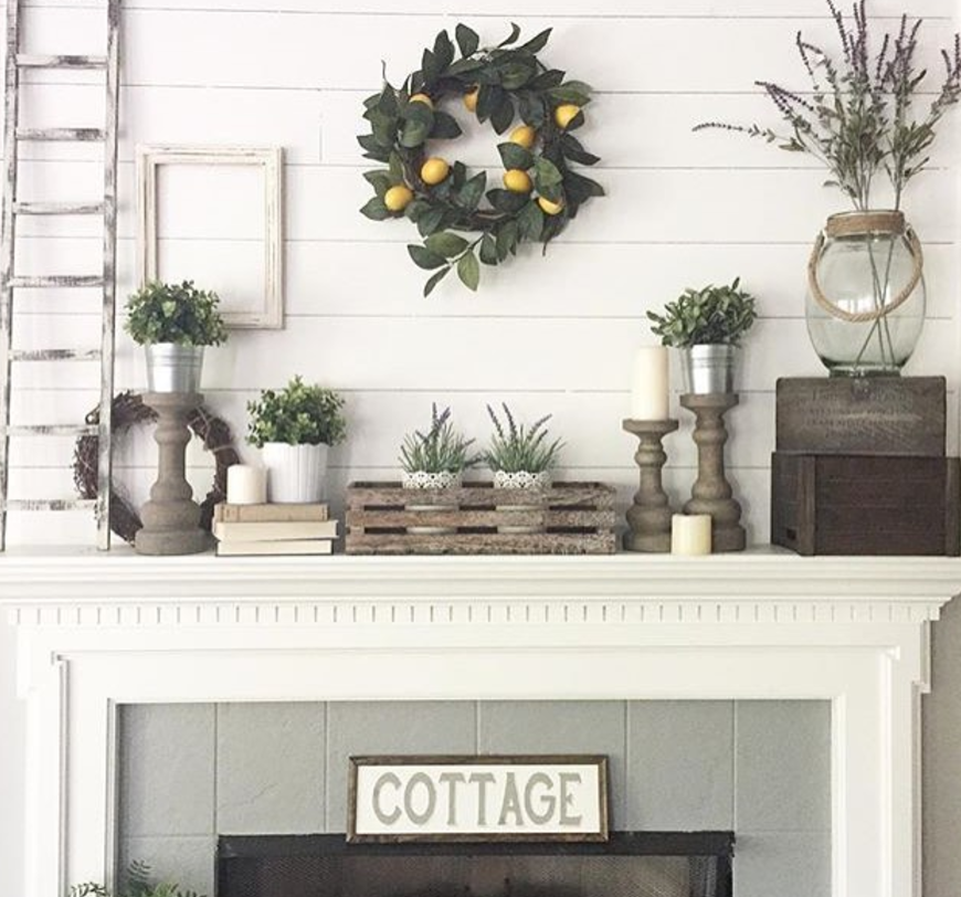Candle Accent Mantel & 25 Fall Mantel Decorating Ideas - Southern Living