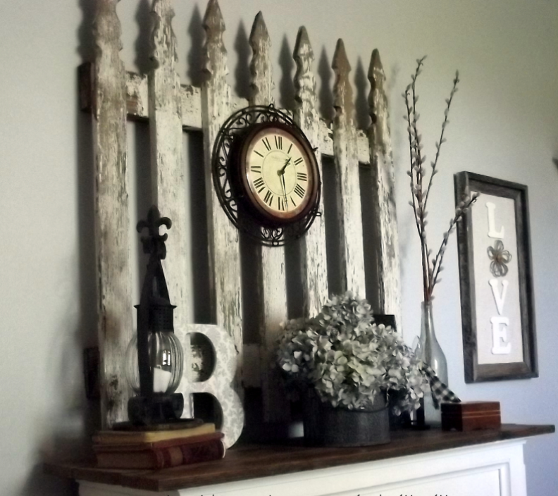 Fence Post Mantel