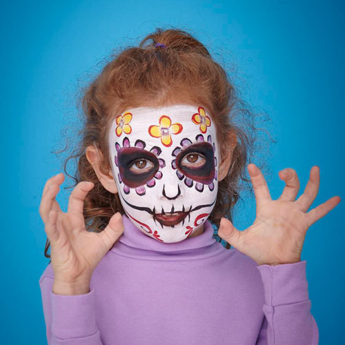 day of the dead skull halloween face paint