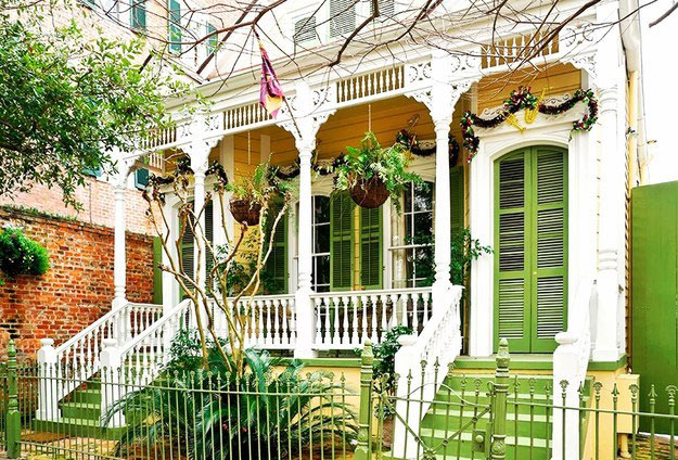 Lime Green House New Orleans
