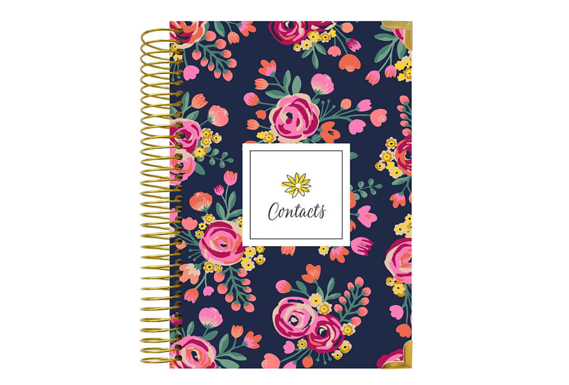 Vintage Floral Address Book