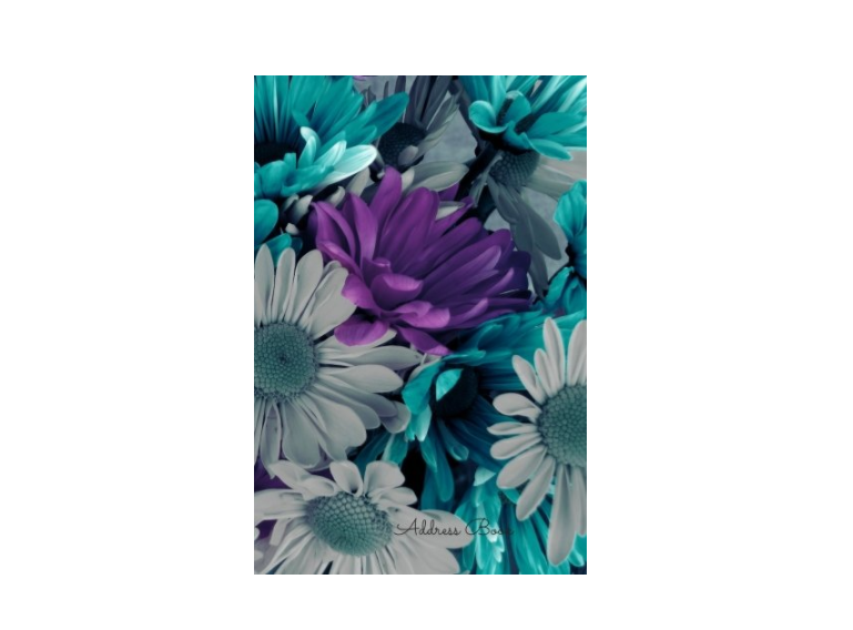 Purple And White Floral Address Book